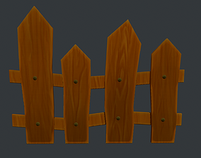Fence 3D asset game-ready