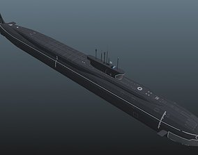 Submarine class 3D asset