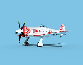 3D animated Hawker Sea Fury V22 Racer