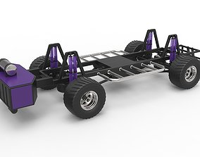 3D model Pulling truck chassis