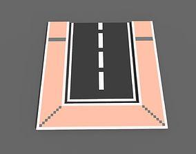 3D asset Road Voxel - 9