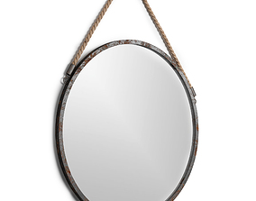 Industrial wall mirror by Trent Austin 3D