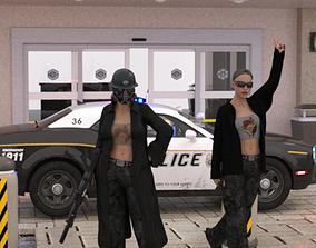 RiotersvPolice 3D model