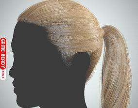 Hair - Ponytail - Gen2 3D asset
