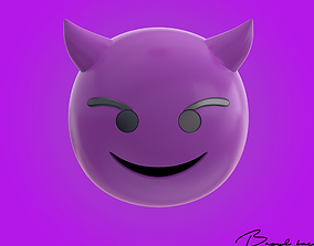 Emoji Demonic Smile 3D model