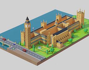 London Big Ben - lowpoly 3D model