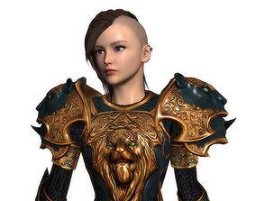3D model Teresa female knight