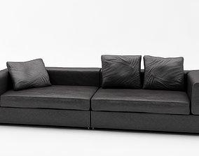 3D model Lather Sofa