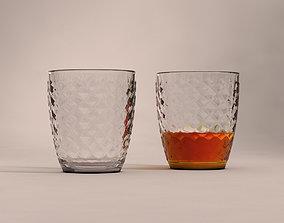 3D model DESIGN-Glass Water Checkboard V2