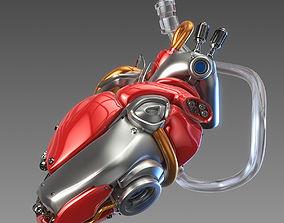 Artificial cyber heart 3D model