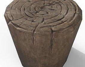 3D asset low-poly Stump