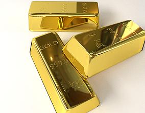 Gold Bar 3D