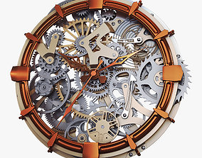 Clock Mechanism With Gears v 2 3D model