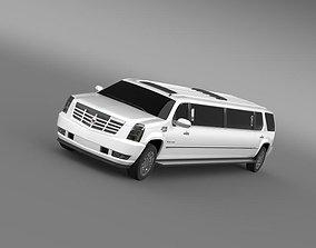 Cadillac Escalade Limo 2010 3D model