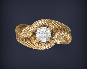 Snake Ouroboros Jewelry Ring 3d print model jewellery
