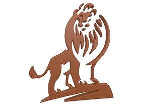 3D asset Lion Emblem v1 002