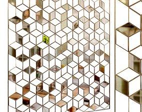 Decorative partition set 15 3D