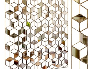 Decorative partition set 15 3D