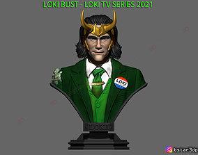 3D print model Loki Bust - TV series 2021 - Marvel Comics