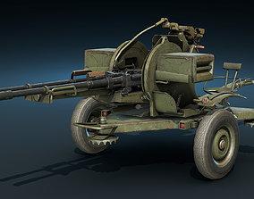 ZU-23-2 Anti-Aircraft Cannon 3D model