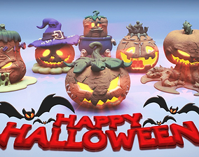 HALLOWEEN PUMPKINS PACK 3D printable model