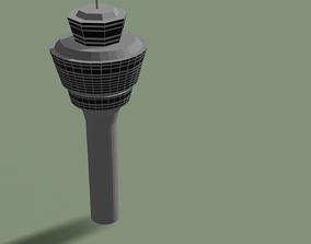 3D model Munich Air Traffic Control Tower