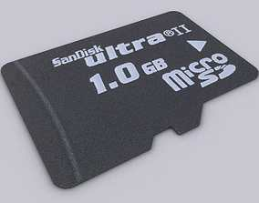 MicroSD 3D model