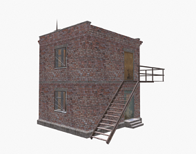 3D model game-ready Brick tower