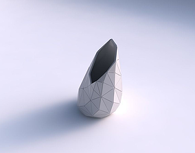 Vase Flame twisted with triangle plates 3D printable model