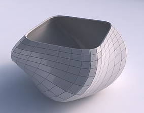 3D print model Bowl helix with distorted grid plates