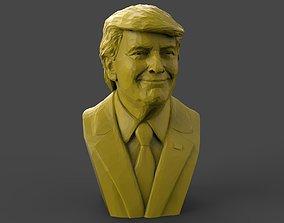 Donald Trump Polygonal 3D printable model