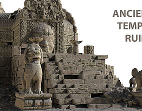 Ancient Temple Ruins High Poly Objects 3D model