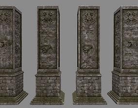 3D model low-poly pillar