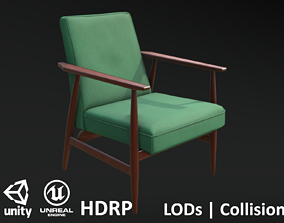 3D model Soviet Armchair Lisek Green