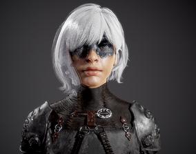 3D model Nadejda Full character realistic 2 skin and