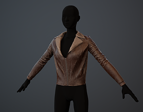 3D model Jacket Leather Pbr GameReady