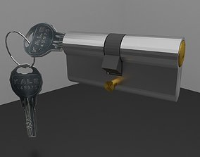 lock key kilit anahtar secret safe 3D model