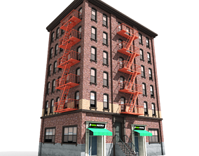 3D model Nyc Building 09 type1