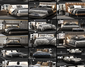 3D Bed Colection 03 - 10 Items