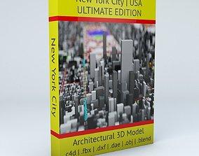 New York City Streets Buildings Transport Sport 3D model