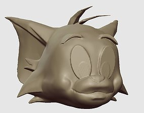 3D print model TOM HEAD - FROM THE TOM AND JERRY SHOW
