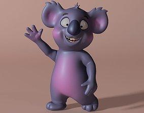 Cartoon Koala Rigged and Animated 3D asset