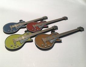 Gibson Les Paul Guitar pendant 3D print model jewelry