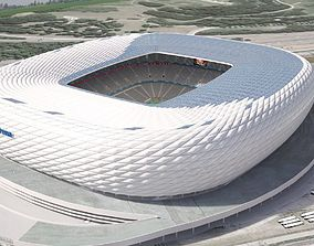 3D Allianz Arena at Day and Night