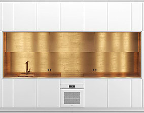 3D model NEL kitchen with brass