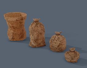 Burlap Sacks 3D asset