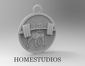 3D print model PENDANT DOG WITH ROT