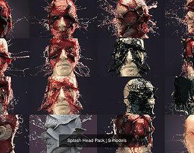 Splash Head Pack 3D model