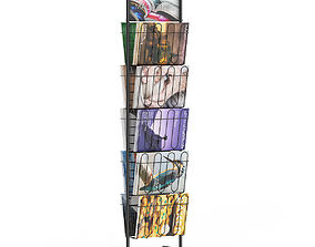 Market Stand with Magazines 3 3D
