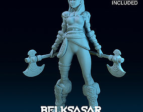 3D print model Girl Viking Normal and Nude